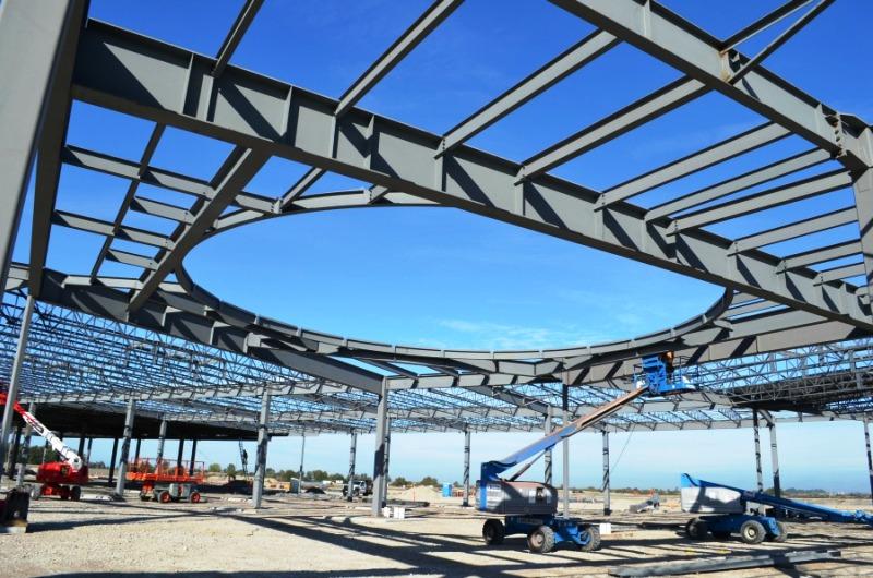 """Больше ЛМК в России www.steelbuildings.ru Tsawwassen Mills Project """"Sports Dome Roof"""" Taking Shape."""