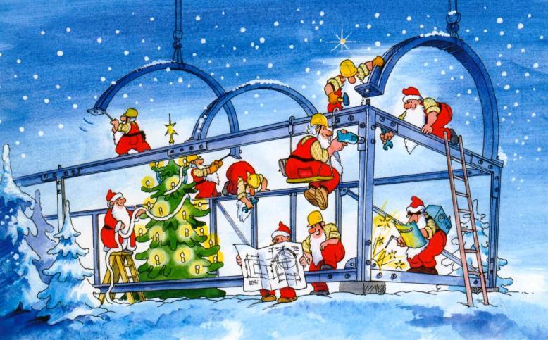 Новогодняя открытка строительной фирмы