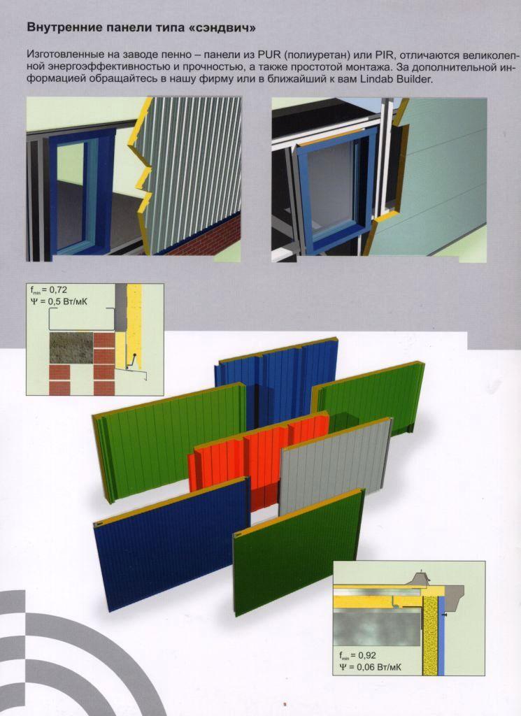 Системы стен Lindab Building System предполагают самые разные конструкции, есть среди них и сэндвич-панели. Больше ЛМК в России www.steelbuildings.ru