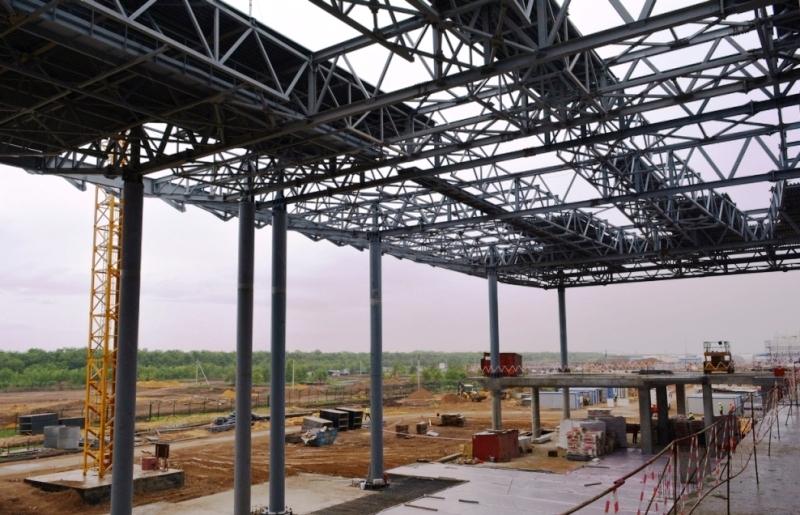 """Больше ЛМК в России www.steelbuildings.ru 98% стального каркаса АэроПорта """"Гагарин"""" готово."""