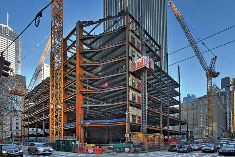 Больше ЛМК в России www.steelbuildings.ru Erector Proves Speed Predictions for Radical Steel Frame of Seattle's Rainier Square Tower.